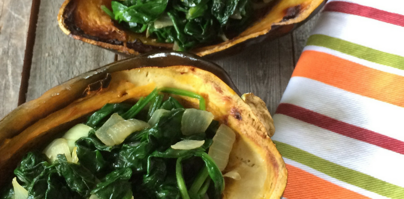 Boost your immunity with Stuffed Acorn Squash and Spinach