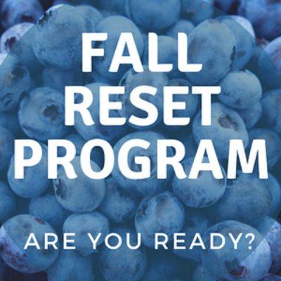 Products | Fall Reset Program Sign Up